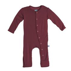 Kickee Pants Coverall, Scarlet