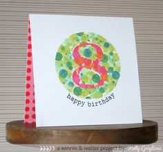 "Happy Birthday ""8"" - Scenery: Big Bang Confetti stamp set from Winnie & Walter, created by Kelly Griglione @Winnie_walter  #winniewalter"