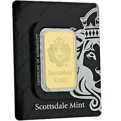 1 oz Scottsdale Mint Gold Bar in Certi-Lock -. There are gold bars, and then there are Scottsdale Gold bars. World Famous Scottsdale Lion Hallmark. Gold Coin Price, Gold Price Chart, Buffalo Bar, Gold Reserve, Gold Rate, Year Of The Pig, Mint Gold, Sell Gold, 1 Oz