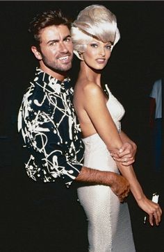 Linda Evangelista and George Michael