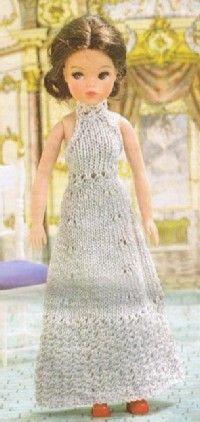 Evening Dress Fashion Doll Patterns
