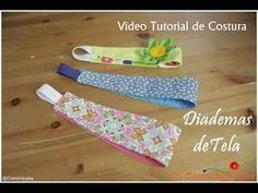 Tutorial #5 - Como hacer Diademas de Tela - How to make a headband fabric - YouTube