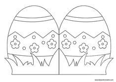 carte de pâques à colorier Egg Crafts, Bunny Crafts, Easter Crafts, Spring Coloring Pages, Easter Coloring Pages, Easter Templates, Easter Printables, Make Your Own Card, Diy Ostern