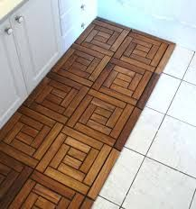 Diy Teak Tile Flooring Use The Cool Spiral Pattern To Create A Diffe Look In