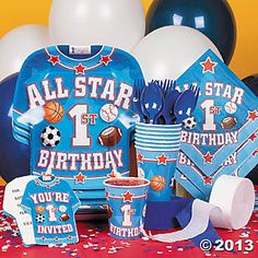 All Star 1st Birthday Basic Party Pack-oriental trading