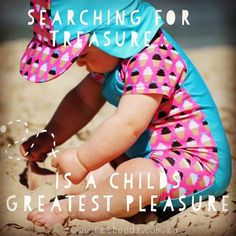searching for treasure is a childs greatest pleasure. Baby in cute Rashoodz Swimsuit