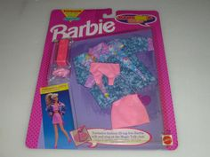 NEW ON CARD BARBIE MAGIC TALK CLUB FASHIONS SET NO 2188 MATTEL 1992 NOC VINTAGE  #Unbranded