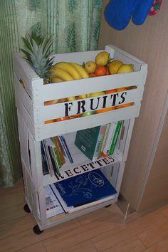 carrello fatto con cassette di frutta shabby chic4