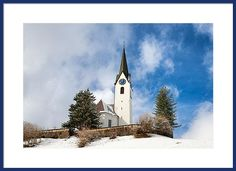 Church Framed Print: Parish church St. Anna in Hirschegg on a beautiful sunny winter day, Kleinwalsertal valley, Austria, Europe. Lots of different image sizes and frames available, every purchase comes with a 30 days money back guarantee. (c) Matthias Hauser hauserfoto.com - Art for your Home Decor and Interior Design needs.