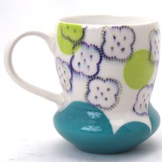 Meredith Host Dot Dot Biscuit Mug - The Clay Studio