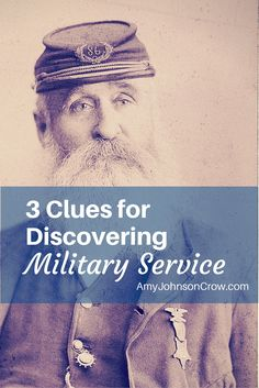 3 Clues for Discovering Military Service Military records are wonderful for genealogy research. Here are 3 clues you might be missing that can show your ancestor's military service. Genealogy Websites, Genealogy Chart, Genealogy Humor, Lds Genealogy, Genealogy Search, Family Genealogy, Military Records, Family Research, My Family History