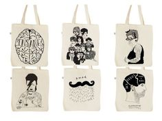 Hand printed Tote Bags