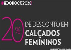 Cupom de desconto Marisa, 20% de desconto em calçados femininos http://desconto.gratis/cupom/cupom-marisa-20-desconto-calcados-femininos/