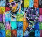 oil pastel, acrylic, canvas 80x90 cm