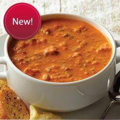 Tuscan Tomato Florentine Soup  #OmahaSteaksHoliday