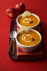 Cozy up to some Curried Sweet Potato Apple Soup!