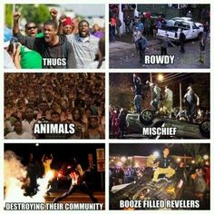 Black People Riot Over Injustice, White People Riot Over Pumpkins and Football