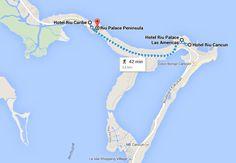 Trecho bonito entre os hotéis RIU para se fazer a pé pela praia