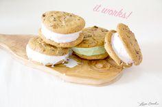 ice cream cookie sandwiches {yum}