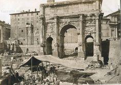 Roman forum and the Arch of Septimus Severus, c. 1875