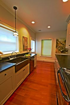 Broomell Kitchen In Lancaster, PA This Is A Galley Kitchen Featuring  Cambrian Black Antiqued Granite