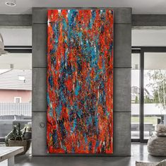 Modern Oil Painting, Large Painting, Oil Painting Abstract, Painting Canvas, Colorful Wall Art, Large Wall Art, Large Canvas, Jackson Pollock, Pollock Paintings