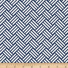 Michael Miller Bekko Home Decor Tatami Navy - Discount Designer Fabric - Fabric.com
