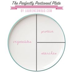 Fit Tip: The Perfectly Portioned Plate by Lauren Conrad  It's OK to indulge a little around the holidays. I certainly won't deny myself a slice of pumpkin pie. But unless you're looking to gain 10 pounds in a single holiday weekend, practicing portion control is still key. In my opinion, no one should be counting calories at a holiday dinner—that takes all the fun out of it. But, if you keep this little trick in mind you won't have to. Here's how to build the perfectly portioned plate…