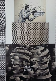 12th - From top to bottom: Unknown Artist from Italy - Bridget Riley - M.C.Escher
