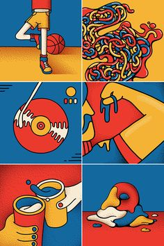 36 Days of Type on Behance Graphic Design Posters, Graphic Design Illustration, Graphic Design Inspiration, Digital Illustration, Minimalist Graphic Design, Flat Illustration, Photographie Street Art, Posca Art, Guache