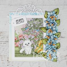 Purr-fect Recovery Wishes Handmade Greeting Card - Wish them well with this handmade card and this cute kitten! Pin now! Crafts To Make, Diy Crafts, Heartfelt Creations Cards, Shaped Cards, Fancy Fold Cards, Flower Shape, Paper Decorations, Handmade Flowers, Greeting Cards Handmade