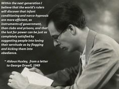 Aldous Huxley. A letter to George Orwell. (1949)
