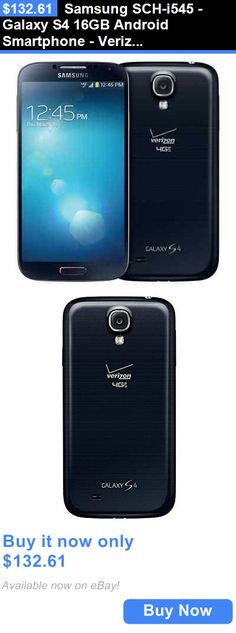 cell phones: Samsung Sch-I545 - Galaxy S4 16Gb Android Smartphone - Verizon + Gsm - Black BUY IT NOW ONLY: $132.61
