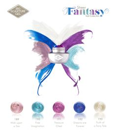 Bio Sculpture Gel is proud to annouce the launch of The Sheer Fantasy Nail Collection for the 2014 festive season. This sheer pearlescent collection is inspired by an imaginary world of fairy tales and dreams. Bio Sculpture Gel Nails, Season Colors, Nail Tech, Nail Art Designs, My Nails, Fairy Tales, Colours, Fantasy, Evo
