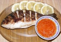 Aranydurbincs grillezve Fish