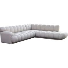 View this item and discover similar for sale at - This sectional is constructed of two separate seating parts that join to make an L shape. Leather Modular Sofa, Leather Sectional Sofas, Modern Sectional, Modern Sofa, Sofa Seats, Couches, Scandinavian Sofas, Sofa Material, Long Sofa