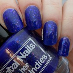 Queen in Her Damned Undies a Royal blue jelly by DigitalNails