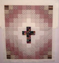 Cross Quilt top--this is a great idea for modifying a Trip Around the World pattern!
