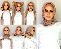 How can I put on a Modern Hijab scarf easily? - How can I put on a Modern Hijab scarf easily? - Hijab Fashion and Chic Style Tutorial Hijab Pashmina, Square Hijab Tutorial, Hijab Style Tutorial, Simple Hijab Tutorial, Scarf Tutorial, Hijab Casual, Hijab Chic, Casual Outfits, How To Wear Hijab
