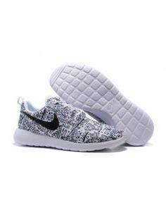 834266ff6831 Nike Roshe One Print Premium White Black on We Heart It