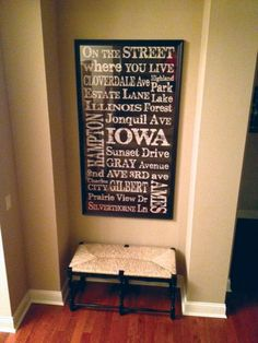 Personalized typography sign