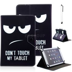 """Very Cool Fashion Black PU Leather CaseStylus for 7"""" 7 inch Android Tablet PC"""