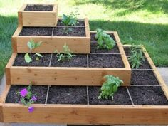 Stacked garden boxes