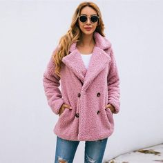 Teddy Bear Vintage Jacket Coat 59.99 CAD T Shirt Crop Top, Crop Top And Leggings, Skirt Leggings, Faux Coat, Faux Shearling Jacket, Faux Fur, Maternity Pants, Maternity Tops, Casual Coats For Women