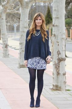 BLUE DRESS AND BLUE SWEATER = BLUE OUTFIT