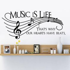 Music Is Life Home Wall Sticker