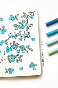 April bujo idea bullet journal by littlegreybujo bullet journal cover design idea April bujo monthly bullet journal inspiration Bullet Journal Spreads, April Bullet Journal, Bullet Journal Headers, Bullet Journal Cover Page, Bullet Journal School, Bullet Journal Ideas Pages, Bullet Journal Layout, Bullet Journal Inspiration, Journal Covers