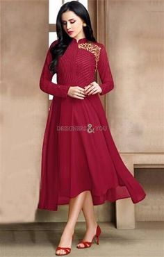 Get this Excellent Maroon Stylish Readymade Kurti in Georgette. This Appealing Design Comes With Full Sleeves Turtle Neck and Embroidery for party Wear. http://www.designersandyou.com/kurtis/party-wear-kurtis  #DesignersAndYou #PartyWearKurtis #PartyWearKurti #Party #Kurtis #Kurti #Classy #Modern #Designer #Fancy #Wear #Pattern #Style #Cotton #Fashion #Beautiful #Designs #Design #Indian #IndianKurtis #IndianKurti #Couture #ForWomen #ForLadies #Ceremonial #Parties #Gathering #Fashionable…