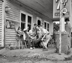 "1939. ""Fourth of July near Chapel Hill, North Carolina. Cedargrove Team."""