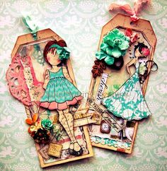 Mixed Media Doll Cling Stamp from Prima - Shay Doll - Scrapbookpasion